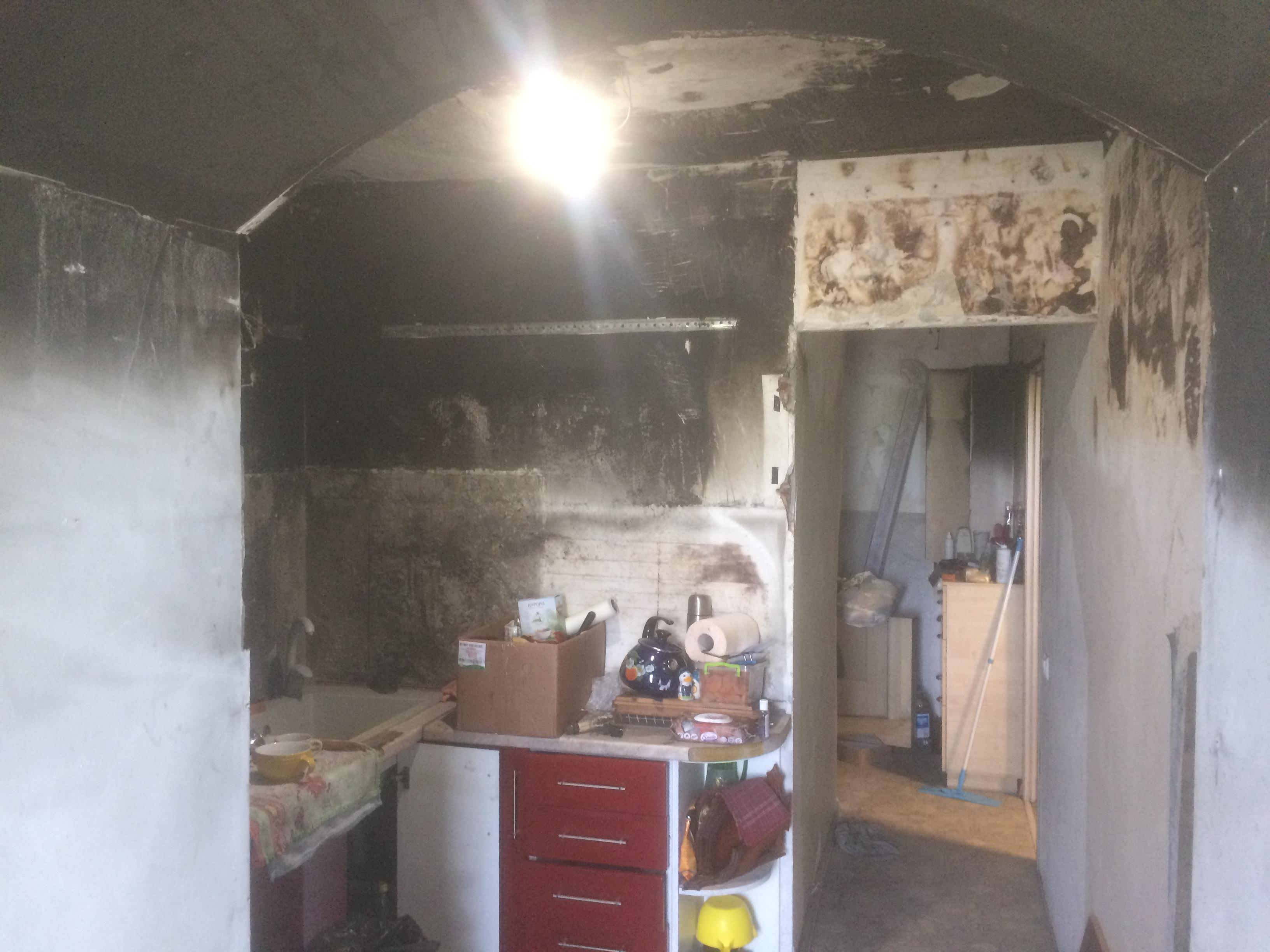 кухня 2 после пожара ремонт квартир в Севастополе