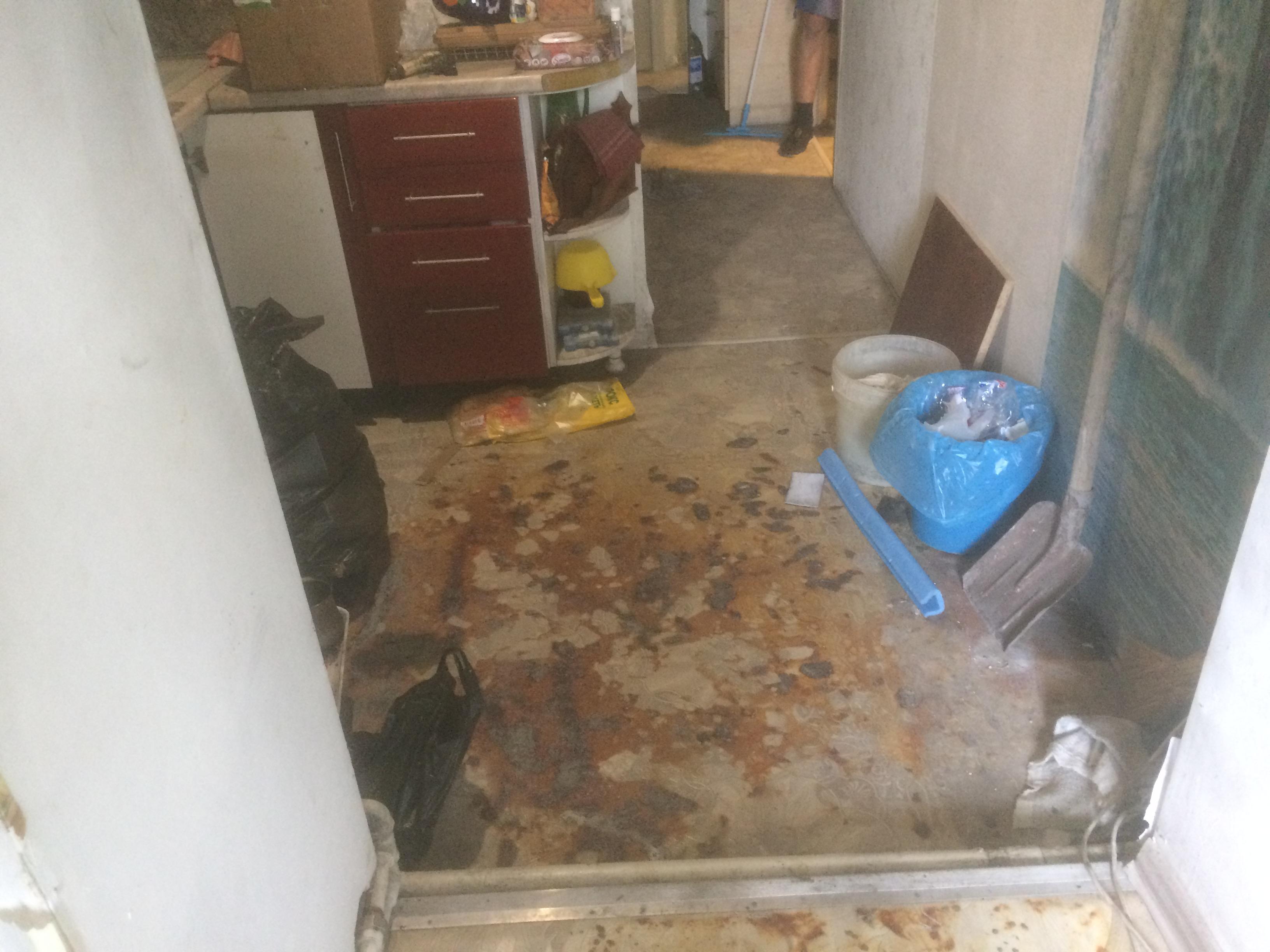 кухня после пожара ремонт квартир в Севастополе